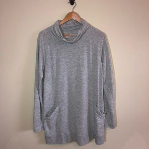 Heather Grey Tunic Sweatshirt